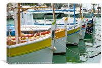 French fishing boats, Canvas Print