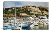 Cassis fishing boats, Canvas Print