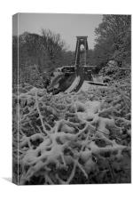 Clifton suspension  bridge in the snow Bristol, Canvas Print