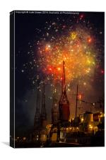 Bristol Harbour Festival Fireworks, Canvas Print