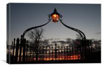 Bird Cage Gate Glow, Canvas Print