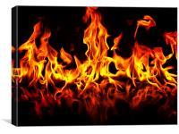Roaring flames, Canvas Print