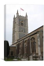 Dedham church, Canvas Print