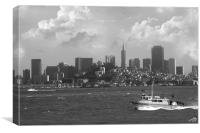 San Francisco bay, Canvas Print