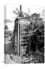 Old Telephone, Canvas Print