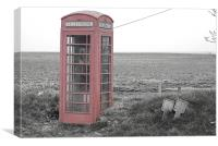 Old Phone Box, Canvas Print