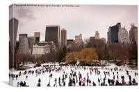 Skaters in Central Park NYC, Canvas Print