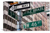 NYC street signs, Canvas Print