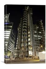 Lloyds building London, Canvas Print