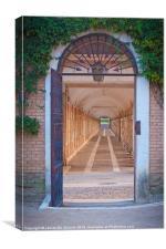 Arenjuez Palace garden, Canvas Print