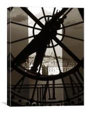 Looking through time, Canvas Print