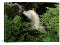 Falls on the Tummel., Canvas Print