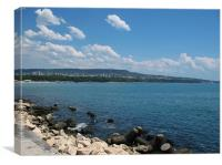 Varna Bay , Canvas Print