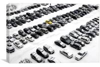 winter parking , Canvas Print