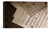 Music sheet, Canvas Print