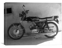 Motor Bike, Canvas Print