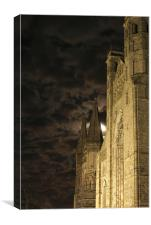 Durham Cathedral by Mooonlight, Canvas Print