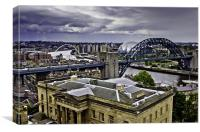 Overlooking The Tyne, Canvas Print