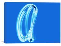 An 'A' IN Blue, Canvas Print
