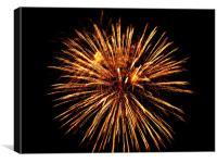 Firework, Canvas Print