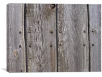 Old Barn Door Wood, Canvas Print