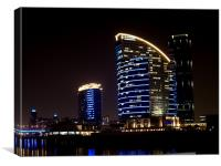 Intercontinental + Crowne Plaza - Dubai - Festival, Canvas Print