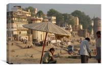 Ghat of Varanasi, Canvas Print