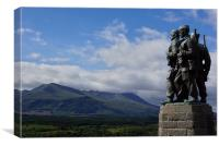 Spean Bridge Commando Memorial 3, Canvas Print