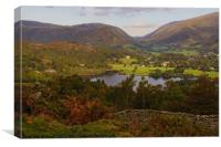 Grasmere from High Close.                         , Canvas Print