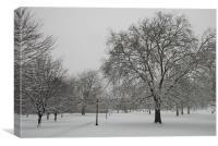 Primrose Hill In The Snow, Canvas Print