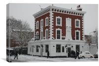 The Engineer Pub,Primrose Hill, Canvas Print