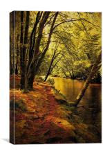 Beechwoods by the River Coe, Canvas Print