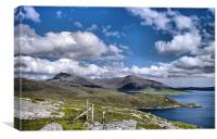 Isle of Harris Mountains, Canvas Print