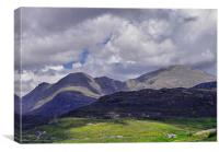 The Mountains of Harris, Canvas Print