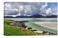 Stormclouds Gathering Over Luskentyre, Canvas Print