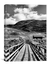 Wooden Bridge in B&W, Canvas Print