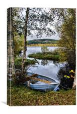 Blue Boat by Loch Ruthven, Canvas Print
