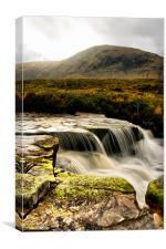"""The Cauldron"" Waterfall Rannoch Moor, Canvas Print"