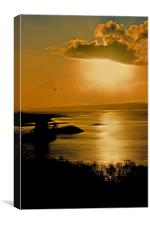 Castle Stalker Sunset, Canvas Print