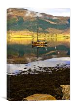 At Anchor in Scotland, Canvas Print
