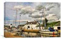 Caledonian Canal at Corpach, Canvas Print