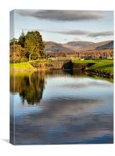 Caledonian Canal Lock, Canvas Print