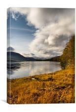 Autumn by Loch Arkaig, Canvas Print