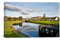 Caledonian Canal Scotland, Canvas Print