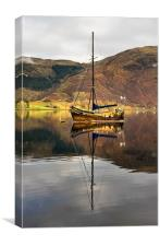 Sailing Boat Reflection Loch Leven, Canvas Print