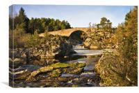 Bridge Over the Black Water, Canvas Print