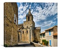 Church Tower Venasque, Canvas Print