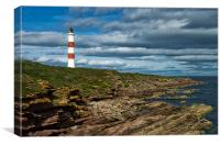Tarbet Ness Lighthouse, Canvas Print