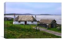 Cottage on North Uist, Canvas Print