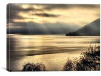 Misty Loch Ness, Canvas Print